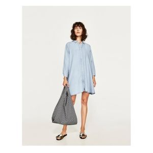 Zara Premium Denim Dress